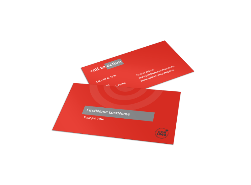 Financial Advisor Business Card Template Preview 1