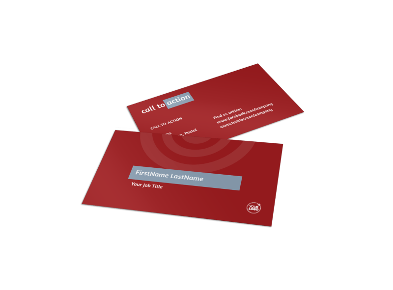 Web Developers Business Card Template Preview 1