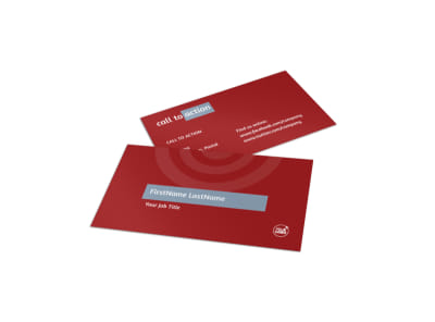 Web Developers Business Card Template