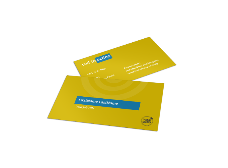 Core Fitness Gym Business Card Template Preview 1