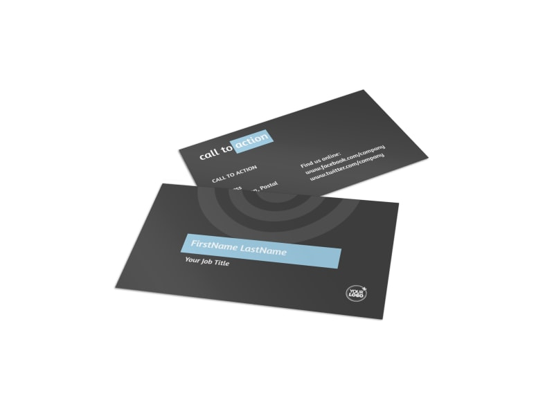 SEO Conference Business Card Template