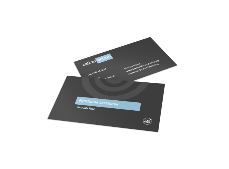 SEO Conference Business Card Template Preview 1