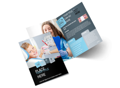 Dentist Office Bi-Fold Brochure Template 2