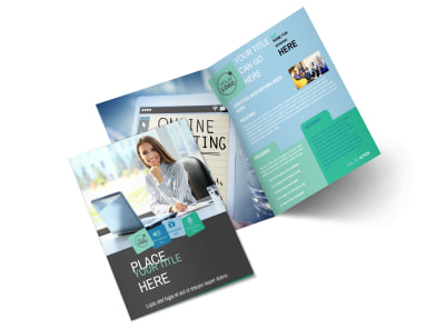 Marketing Agency Bi-Fold Brochure Template 2