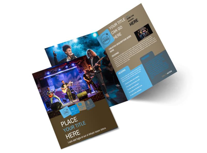 Book A Band Bi-Fold Brochure Template 2