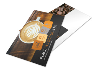 Coffee Shop Postcard Template 2