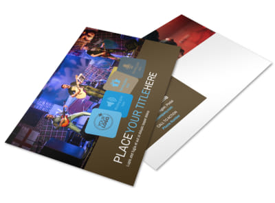 Book A Band Postcard Template 2