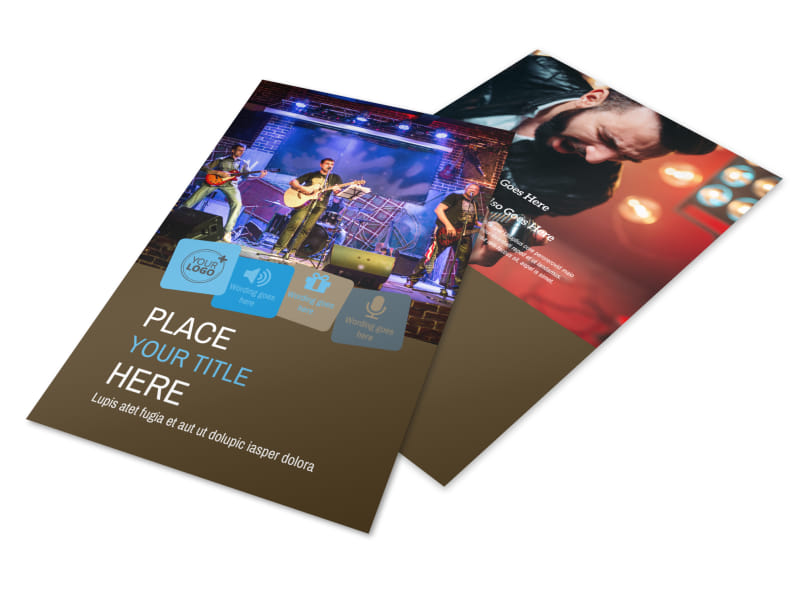 Book A Band Flyer Template 3