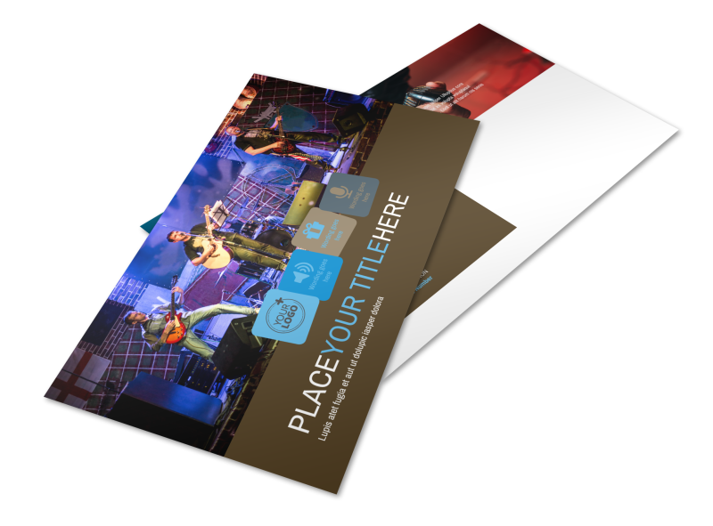 Book A Band Postcard Template Preview 1