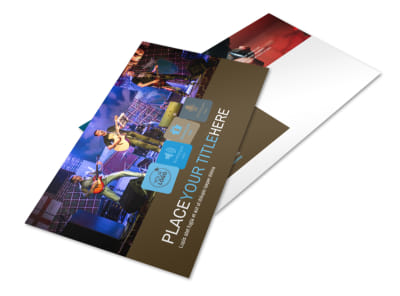 Book A Band Postcard Template preview