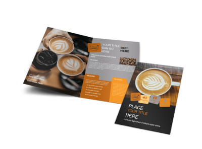 Coffee Shop Bi-Fold Brochure Template