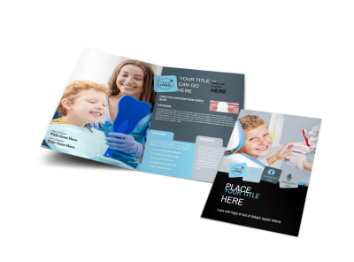 Dentist Office Bi-Fold Brochure Template preview