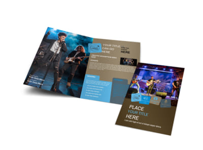 Book A Band Bi-Fold Brochure Template