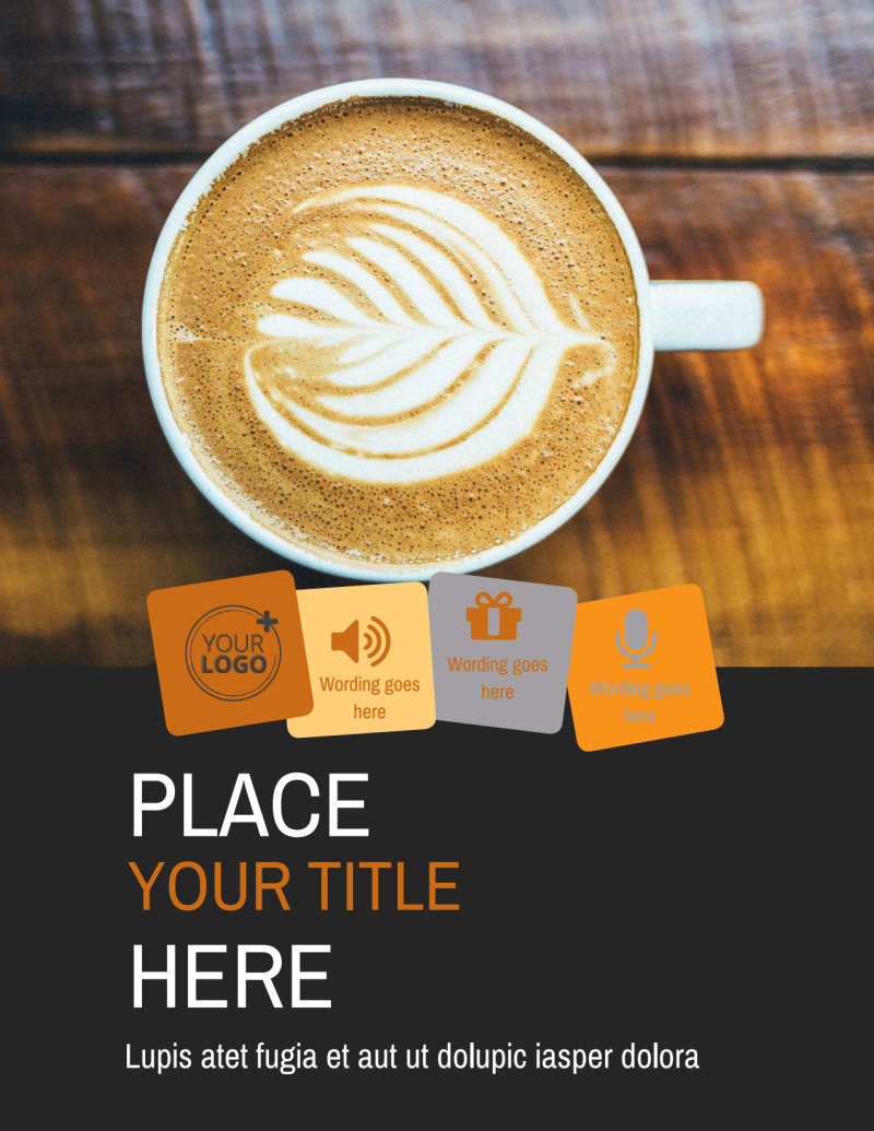 Urban Coffee Shop Flyer Template Preview 2
