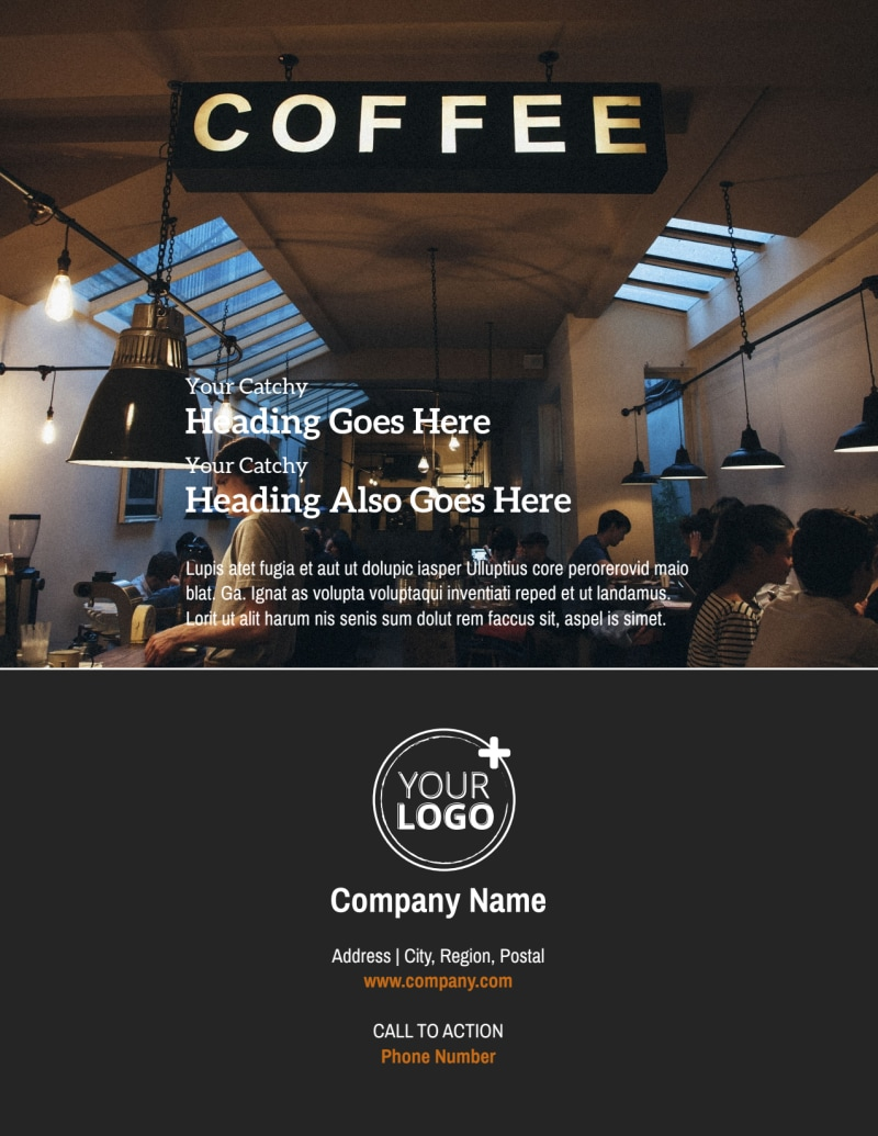 Urban Coffee Shop Flyer Template Preview 3