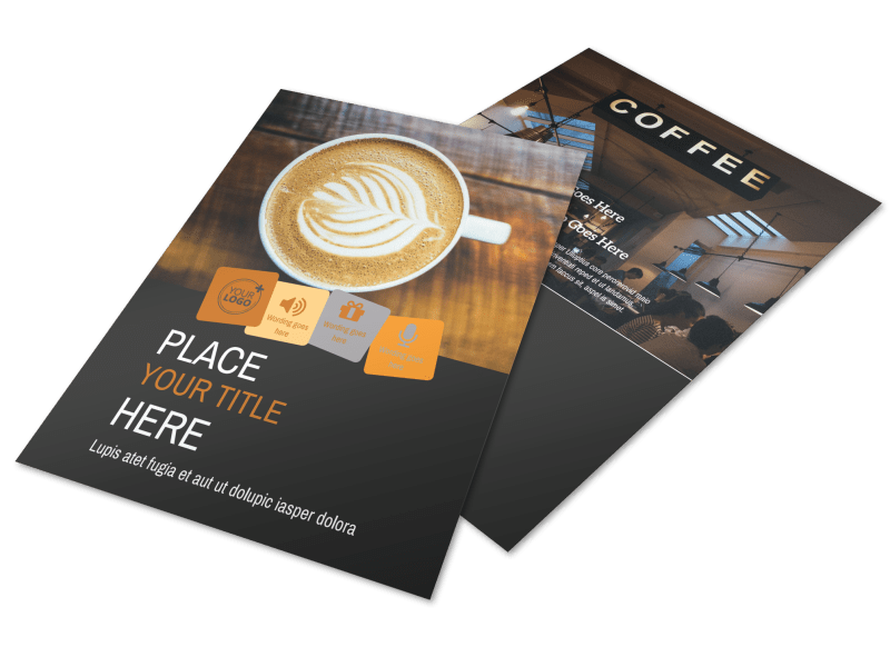 Urban Coffee Shop Flyer Template Preview 1