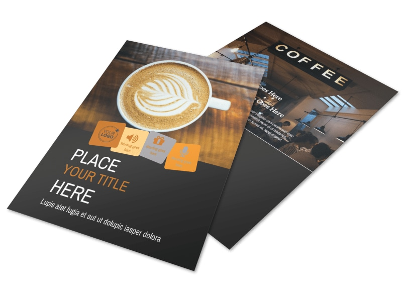 Urban Coffee Shop Brochure Template  Mycreativeshop