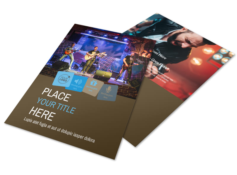 Book A Band Flyer Template