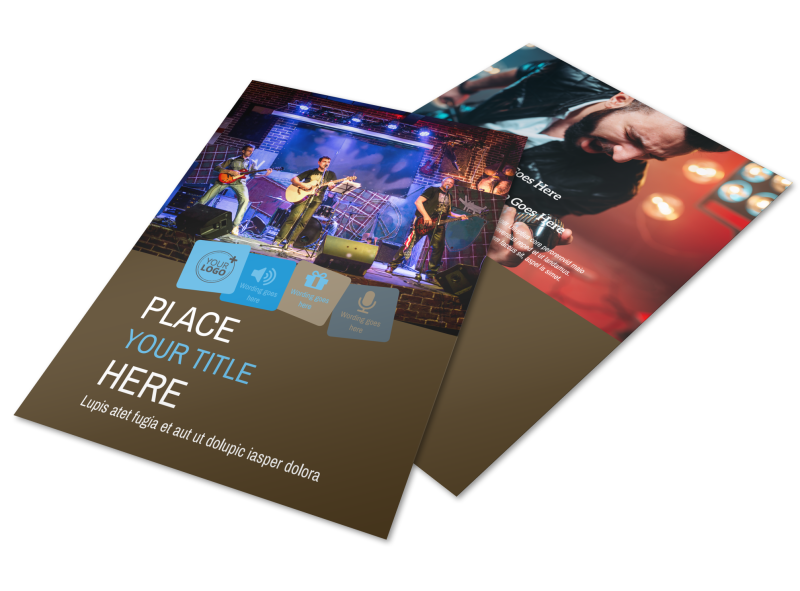 Book A Band Flyer Template Preview 1