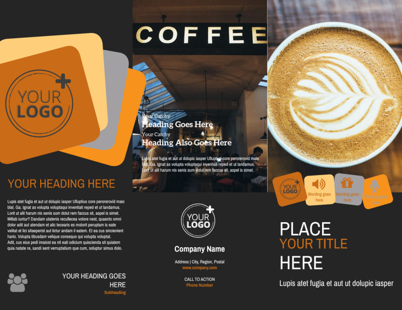 Urban Coffee Shop Brochure Template Preview 2