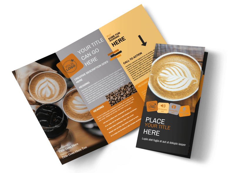 Urban Coffee Shop Brochure Template Preview 1