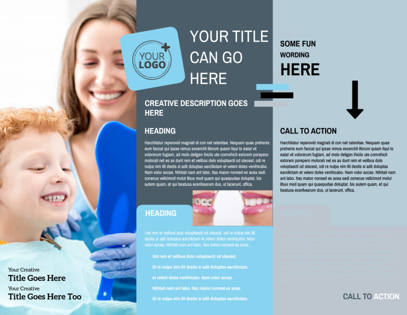 Family Dental Brochure Template Preview 3