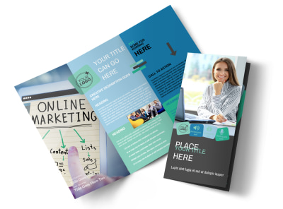 Marketing Agency Tri-Fold Brochure Template