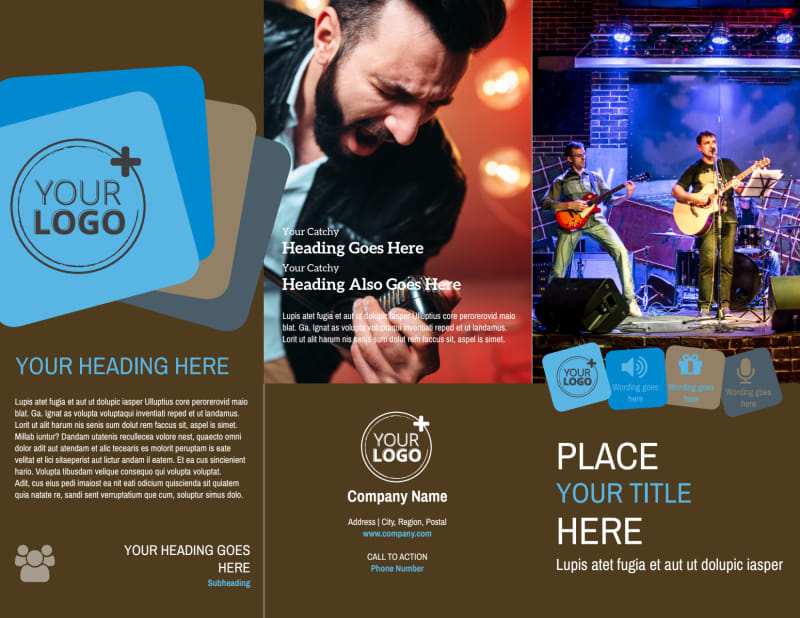 Book A Band Brochure Template Preview 2