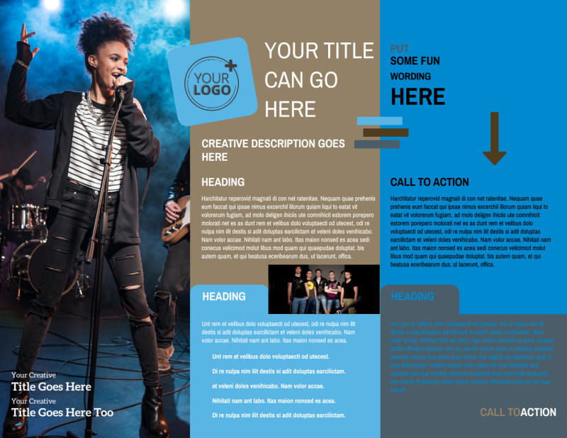 Book A Band Brochure Template Preview 3