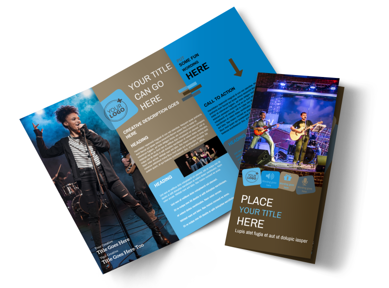 Book A Band Brochure Template Preview 1