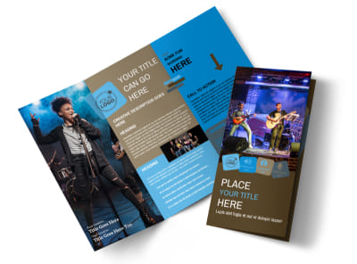 Book A Band Tri-Fold Brochure Template