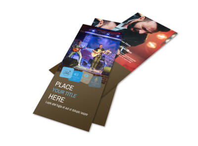 Book A Band Flyer Template 2