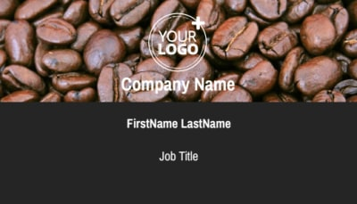 Urban Coffee Shop Business Card Template Preview 1
