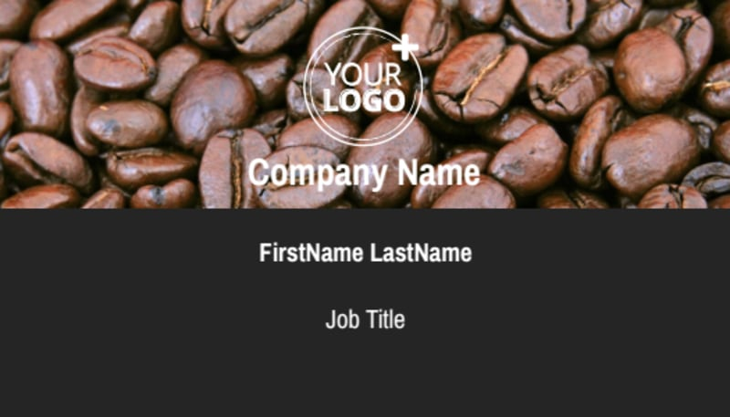 Urban Coffee Shop Business Card Template Preview 2