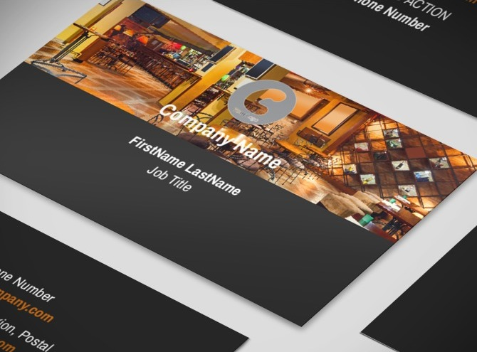Coffee Shop Business Card Templates