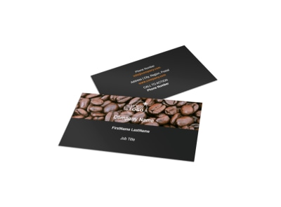 Coffee Shop Business Card Template preview