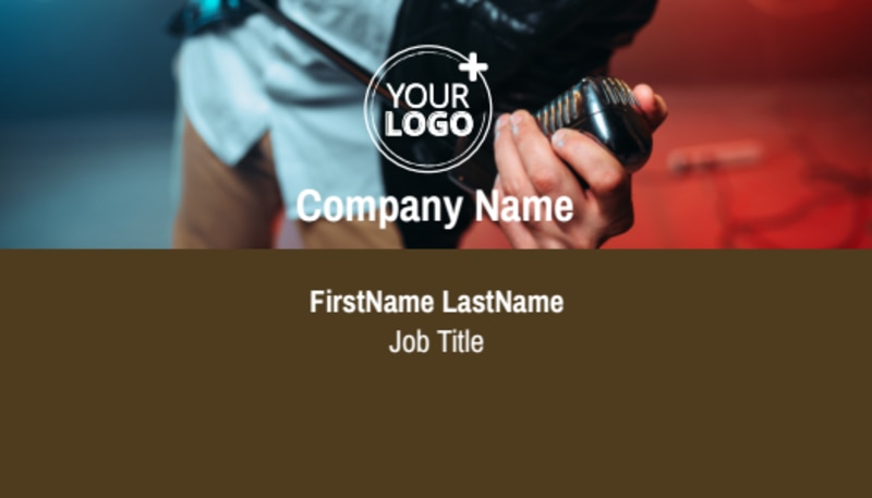 Book A Band Business Card Template Preview 2