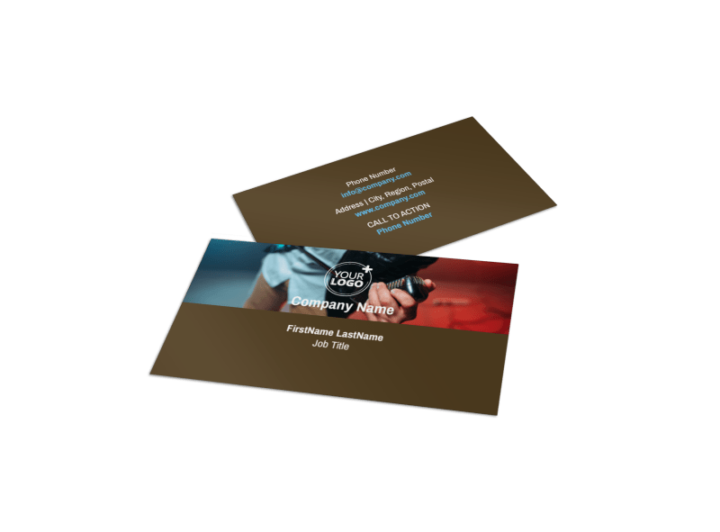 Book A Band Business Card Template Preview 1