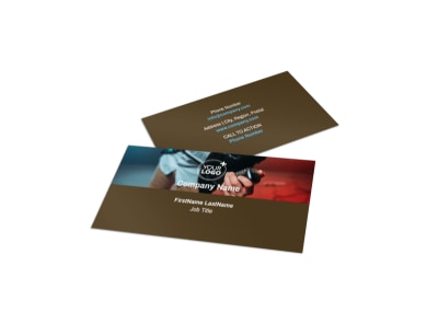 Book A Band Business Card Template preview