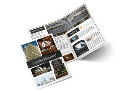 Architecture & Design Service Bi-Fold Brochure Template 2 preview