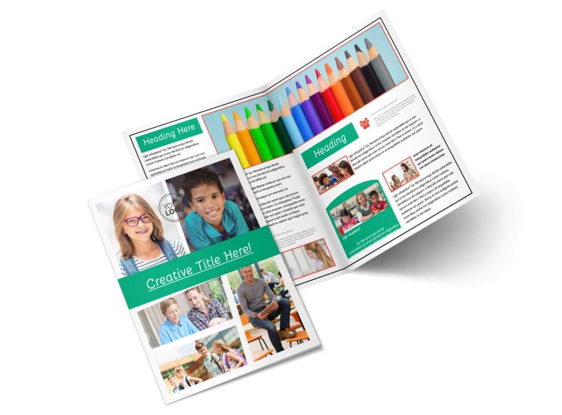 School Counseling Bi-Fold Brochure Template 2