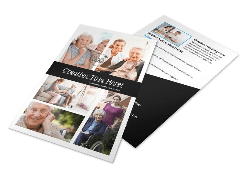 Elder Care & Nursing Home Flyer Template 3