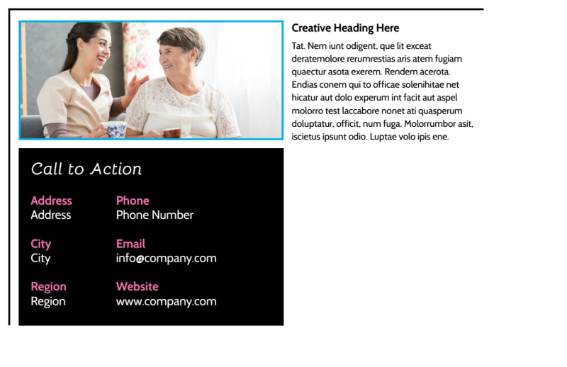 Nursing Home Care Postcard Template Preview 3