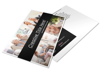 Elder Care & Nursing Home Postcard Template