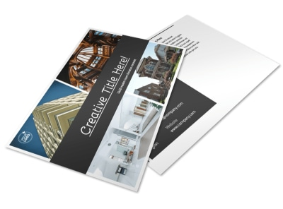 Architecture & Design Service Postcard Template preview