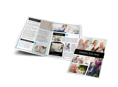 Elder Care & Nursing Home Bi-Fold Brochure Template