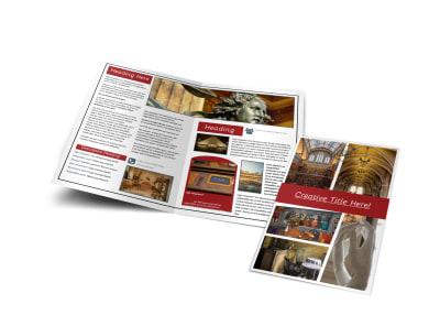 Museum Information Bi-Fold Brochure Template