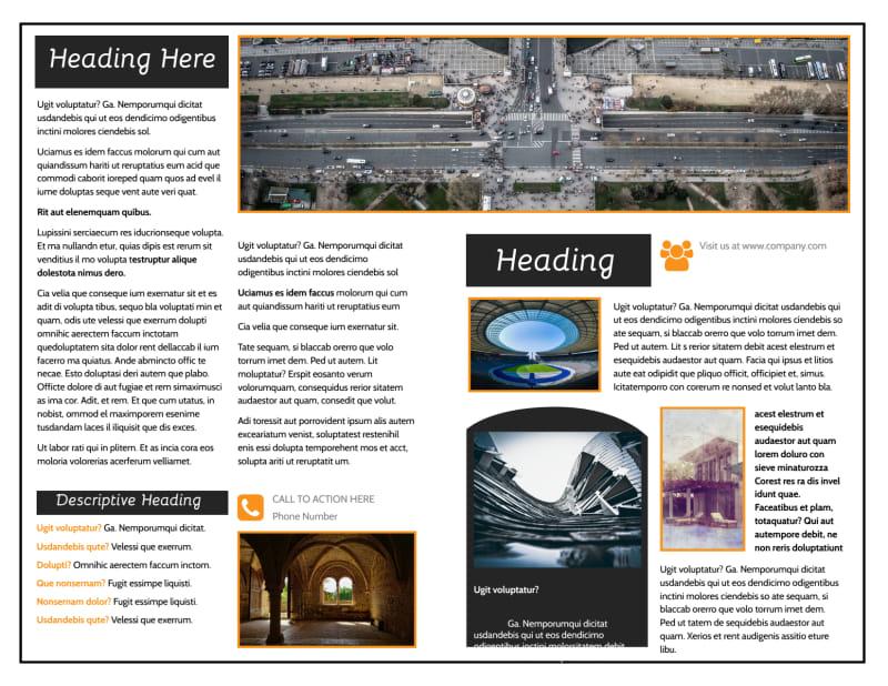 Architecture & Design Service Brochure Template Preview 3