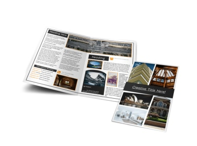 Architecture & Design Service Bi-Fold Brochure Template preview