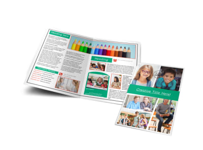 School Counseling Bi-Fold Brochure Template
